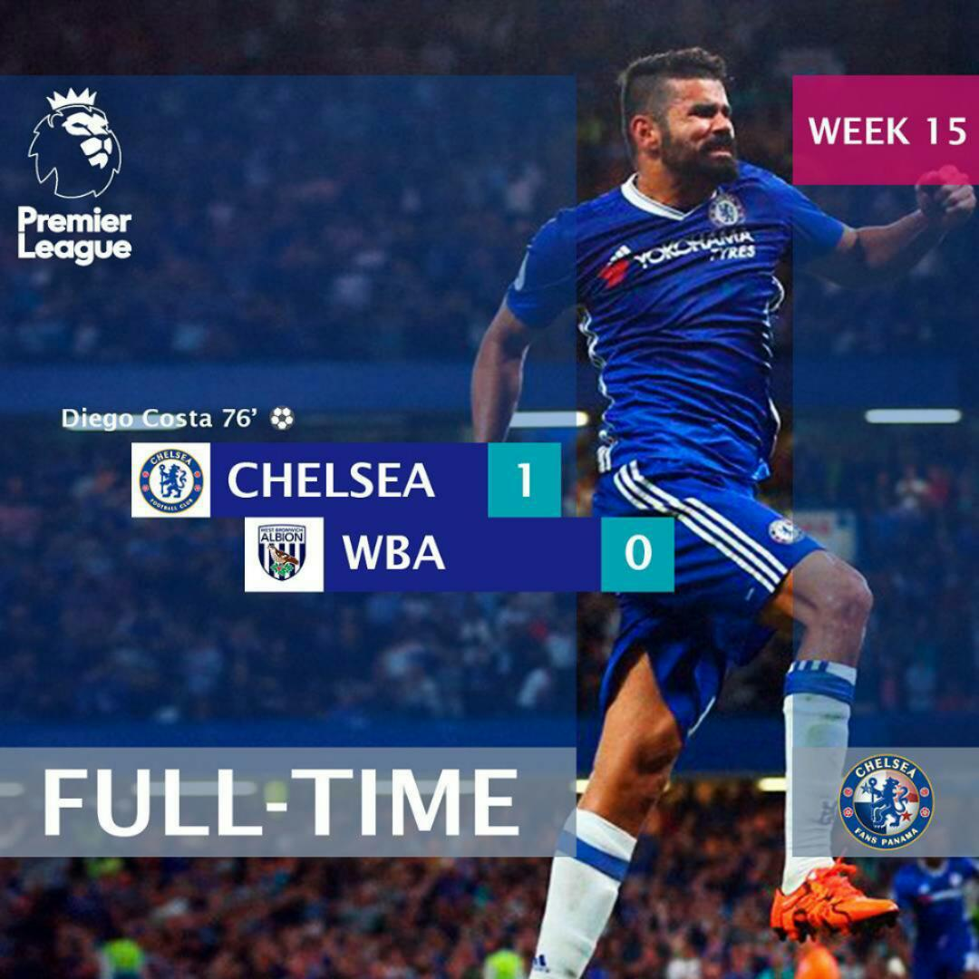 Chelsea FC 1 – 0 West Brom: Diego Costa 75th Minute Stunner Sends Chelsea Top