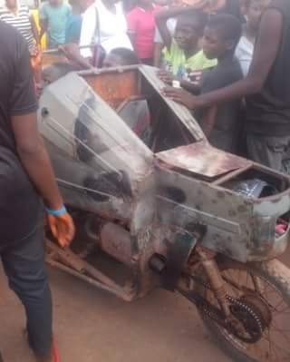 Boy 'Cruising With His New Constructed Porsche' At Ogbete Main Market