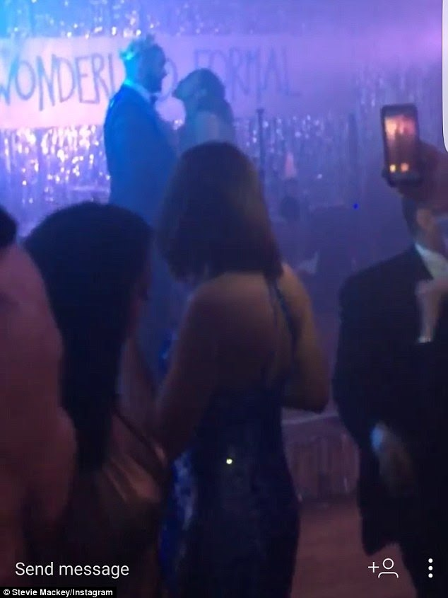 Jennifer Lopez And Drake At Her Dad's Prom Themed Birthday Party Dancing And Kissing