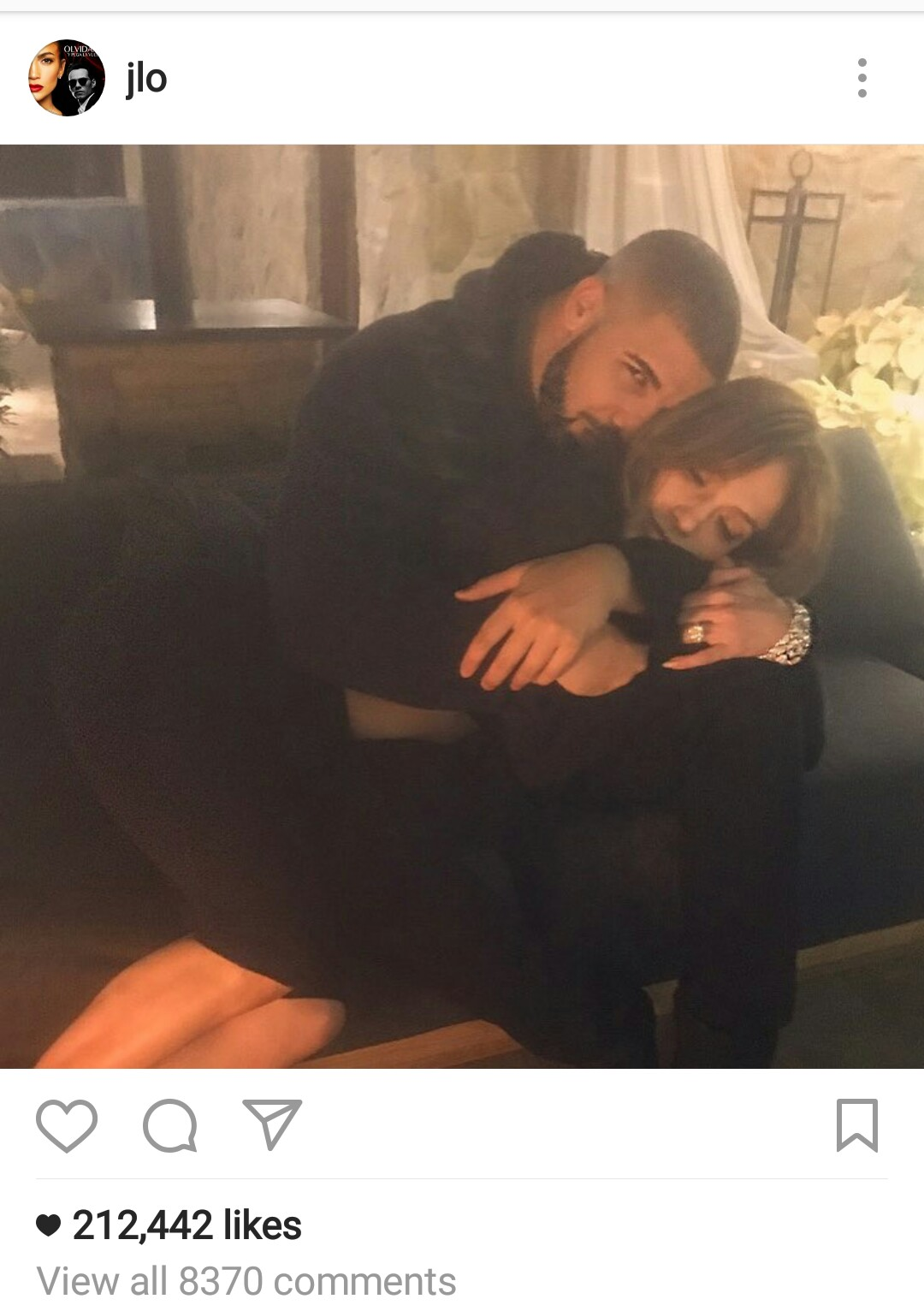 Drake And Jennifer Lopez Post Same Photo On Instagram At The Same Time