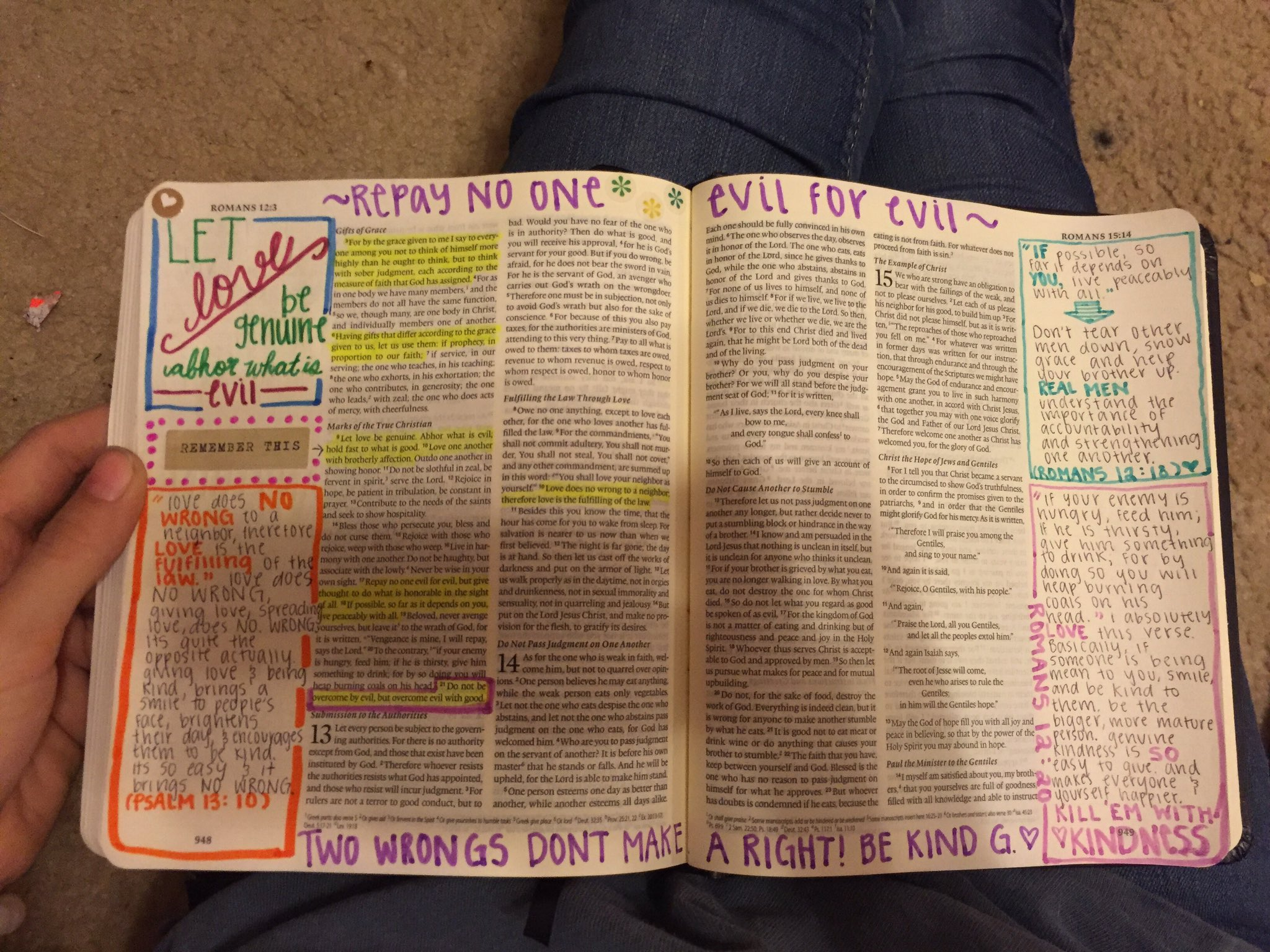 Woman Spends 3 Months Decorating Bible For Boyfriend