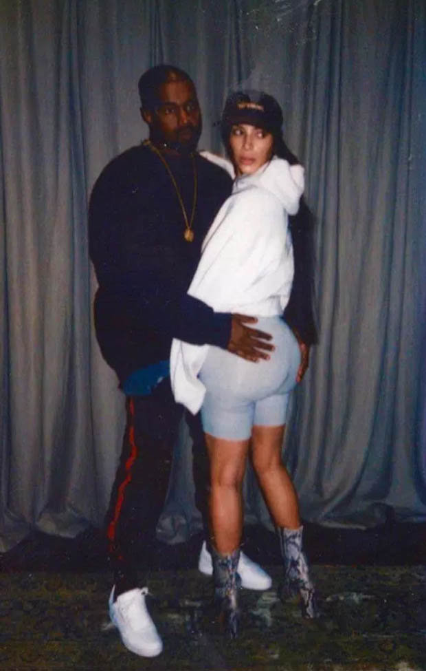 Kanye West Grabs Kim Kardashian's Booty In Previously Unseen Photo