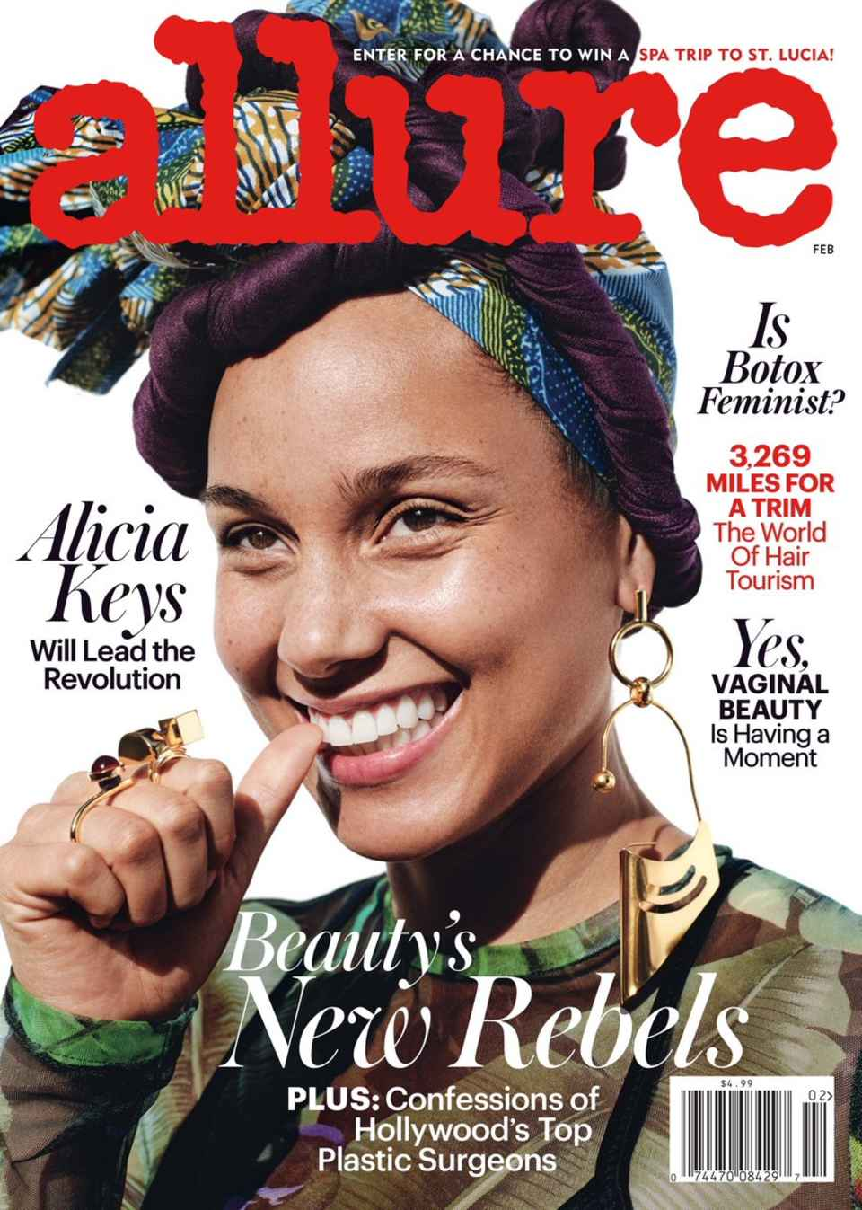 Alicia Keys on Allure's February 2017 cover