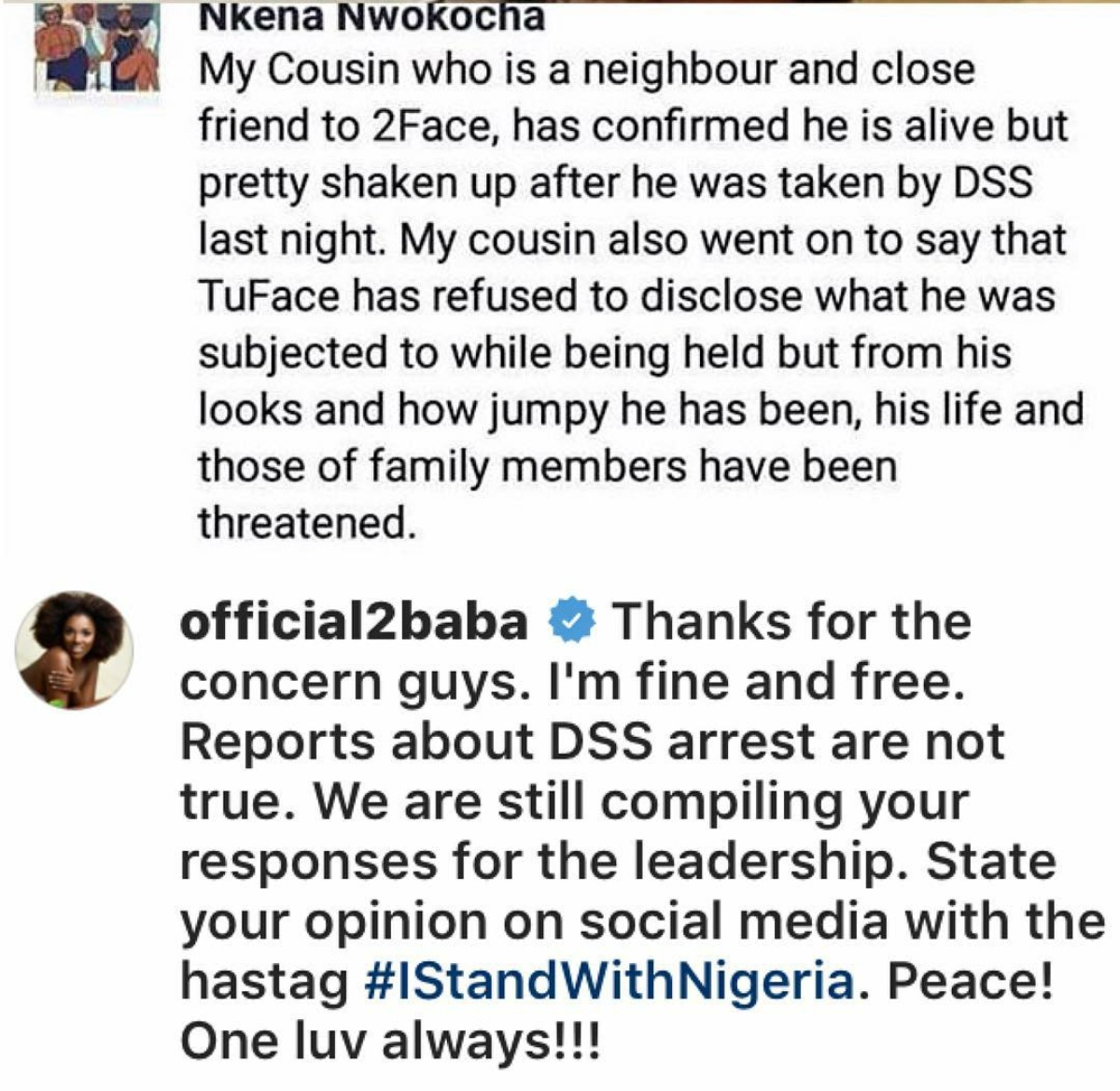 2Face Denies Being Arrested By The DSS