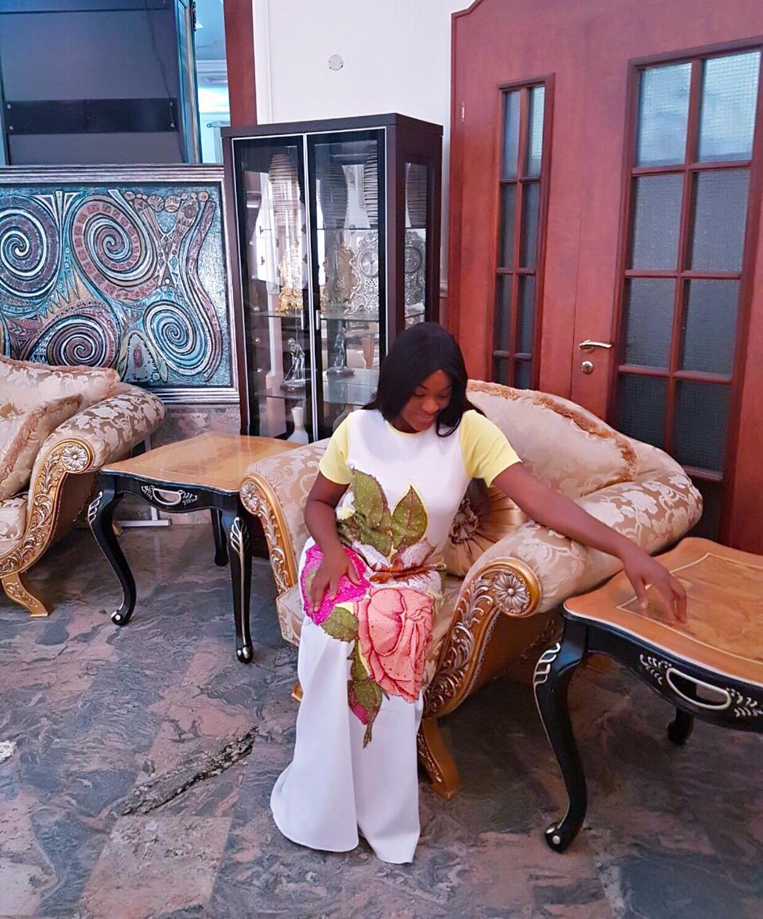 Chacha Eke Faani Slays In Maxi-Gown
