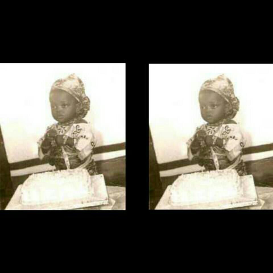 Funke Akindele Childhood Photo