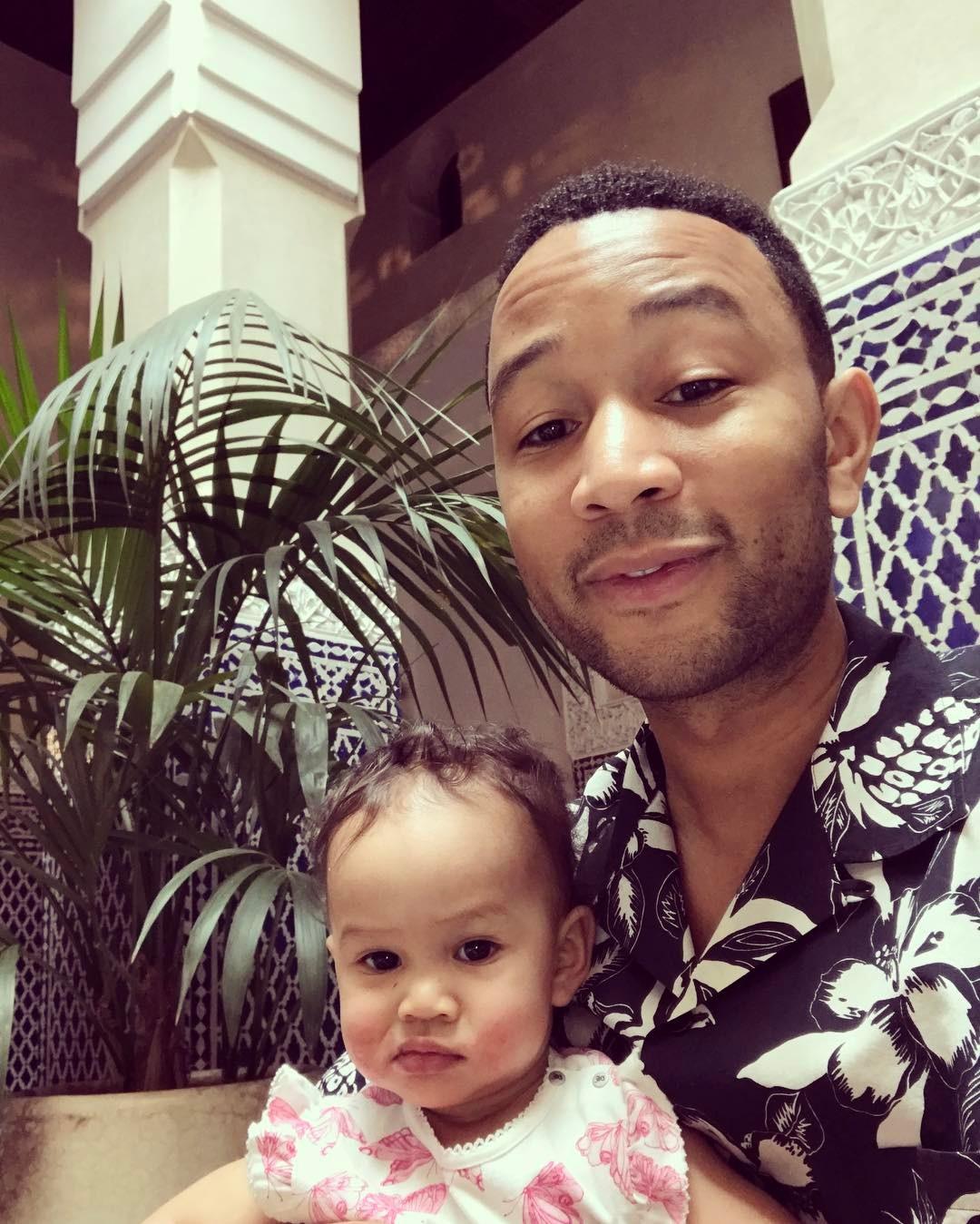 John Legend With Baby Luna