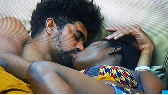 Thin Tall Tony And Bisola Kissing In The Big Brother Naija 2017 House