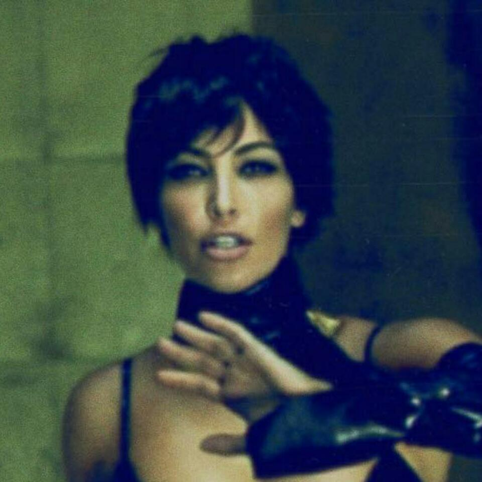 Kim Kardashian Flashes Cleavage In Latex Look For Kris Jenner Inspired Photoshoot