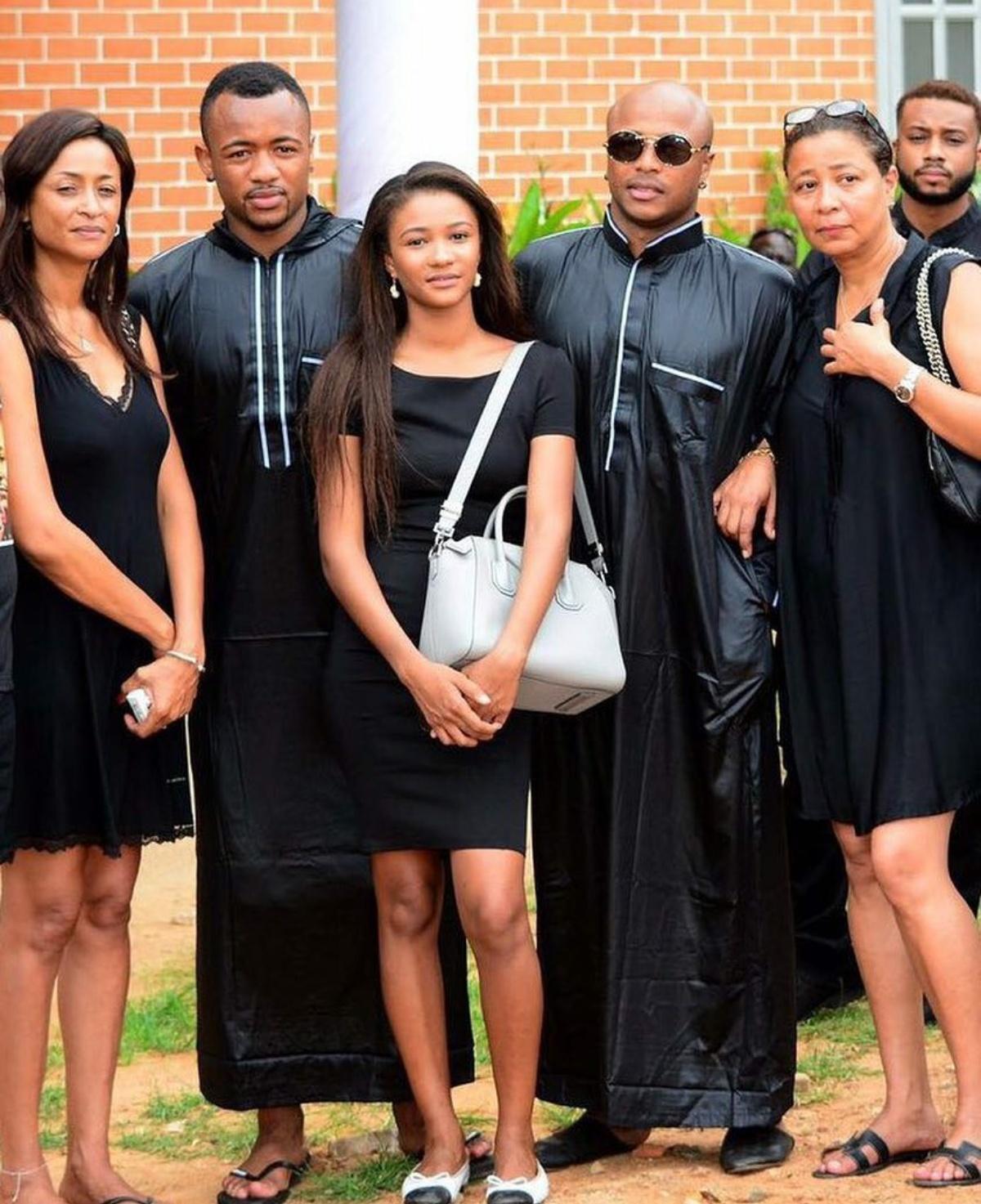 Imani Ayew with family