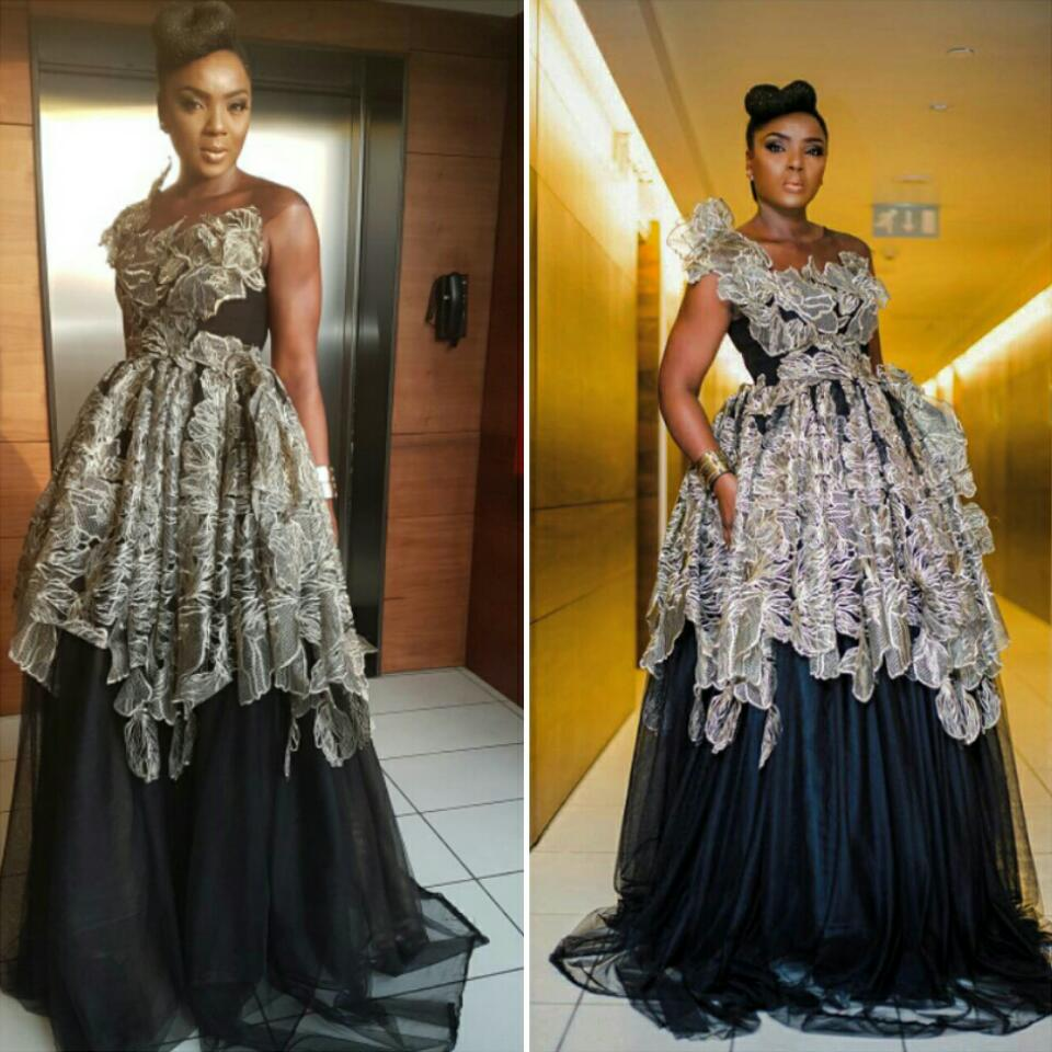 Nollywood Star Chioma Akpotha Rocked Custom-made Shakara Couture Dress At AMVCA 2017