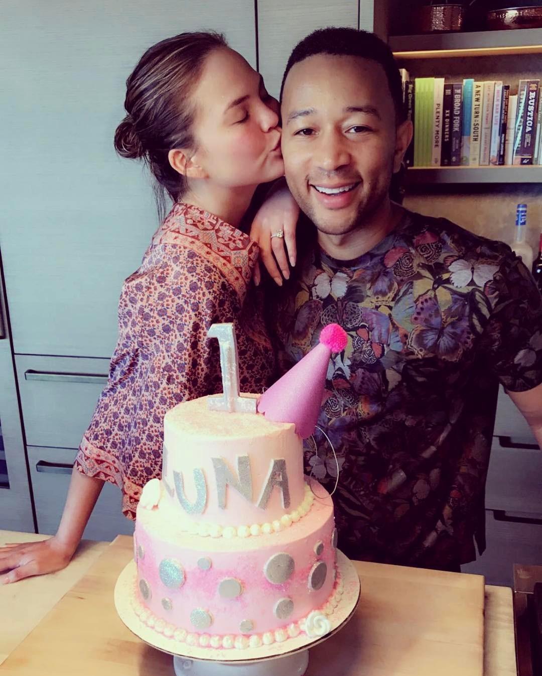 Chrissy Teigen And John Legend's Daughter Luna Enjoyed Her Birthday As She Clocked 1 - 2