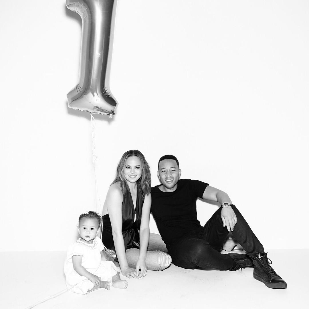 Chrissy Teigen And John Legend's Daughter Luna Enjoyed Her Birthday As She Clocked 1 - 7