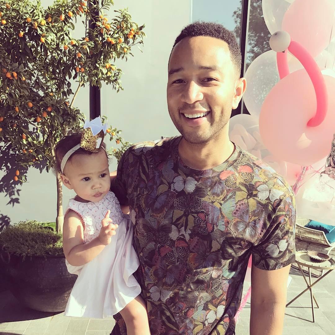 Chrissy Teigen And John Legend's Daughter Luna Enjoyed Her Birthday As She Clocked 1 - 4