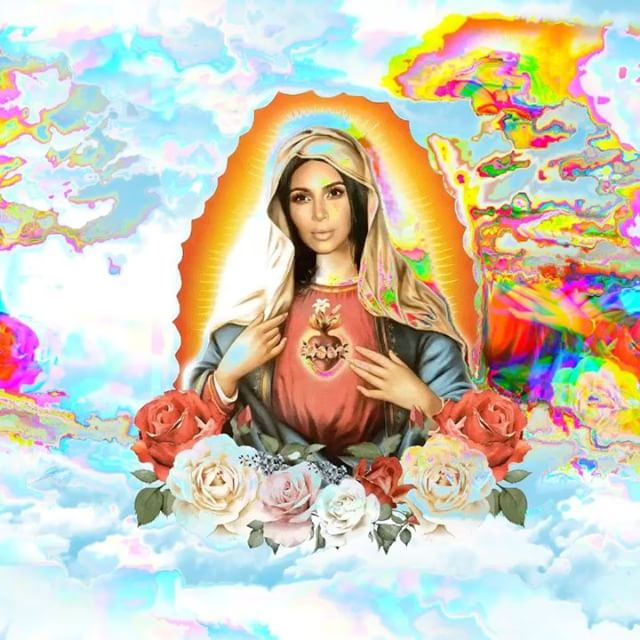 Kim Kardashian Under Fire For Releasing A Kimoji Of Herself As The Virgin Mary 1