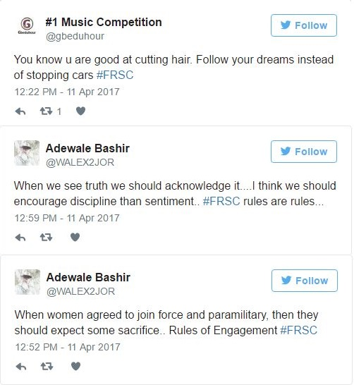 Nigerians Have Reacted On Social Media About The FRSC Commander Who Chopped Off Female Officer's Hair 2