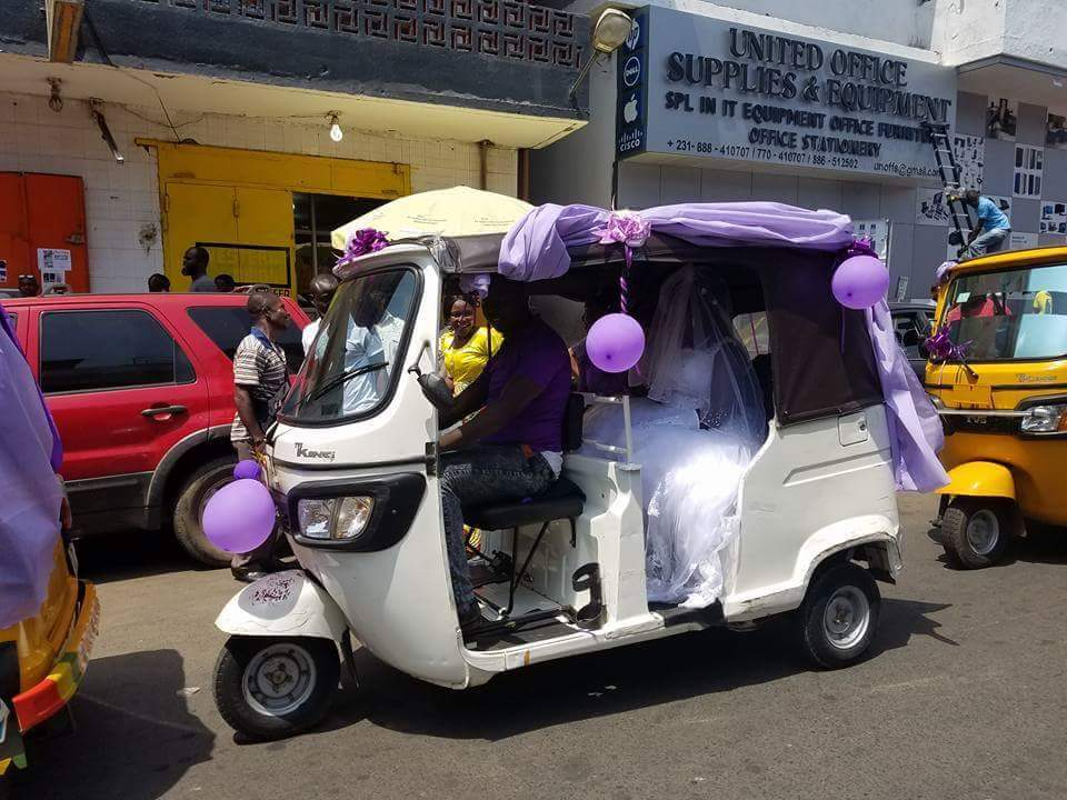 Wedding Day Photos Of A Couple In A Convoy Of Keke Napeps 6
