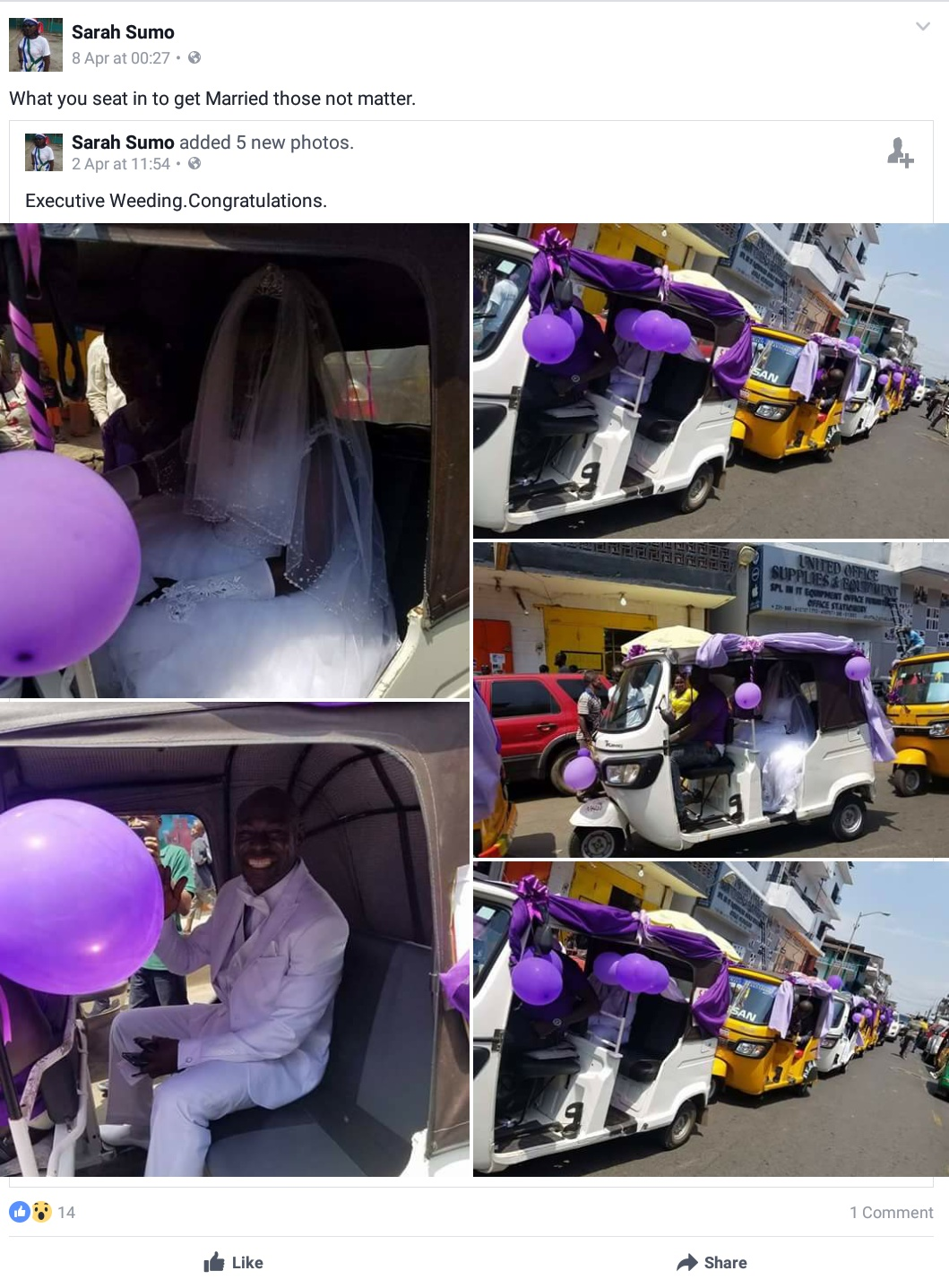 Wedding Day Photos Of A Couple In A Convoy Of Keke Napeps 2