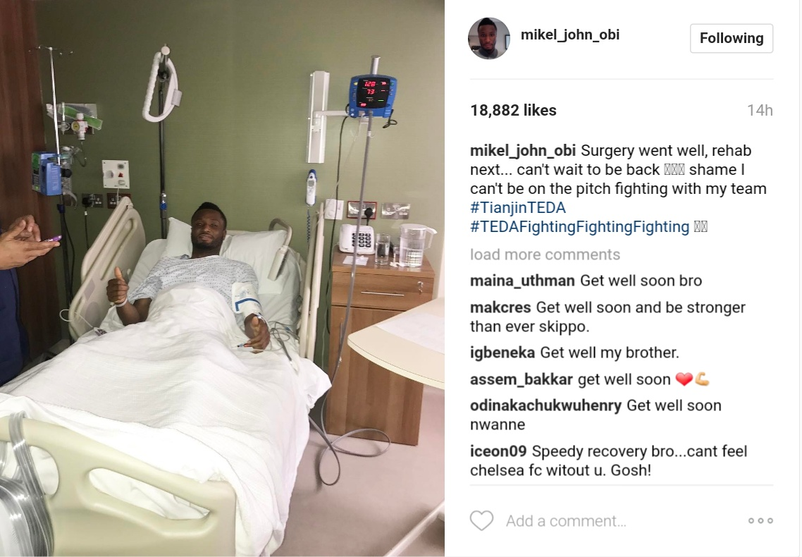 Mikel Obi Undergoes Successful Surgery And Heading Over To Rehab Next 1
