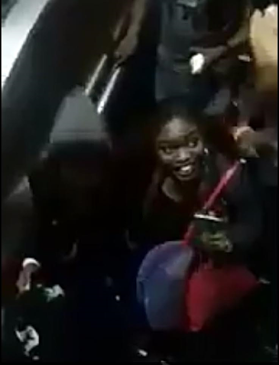 Commotion At Murtala Mohammed Airport As Big Brother Naija 2017 Winner Efe And 1st Runner Up Bisola Arrive Nigeria From South Africa