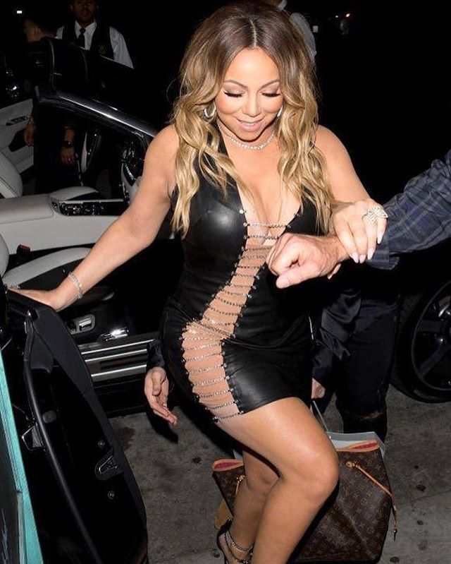 Mariah Carey Stuns In Bryan Hearns Cutout LBD 7