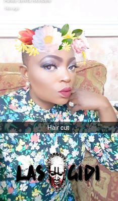 Funke Akindele Low Hair Cut 2