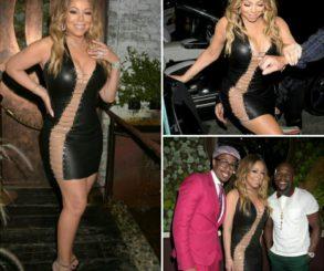 Mariah Carey Stuns In Bryan Hearns Cutout LBD