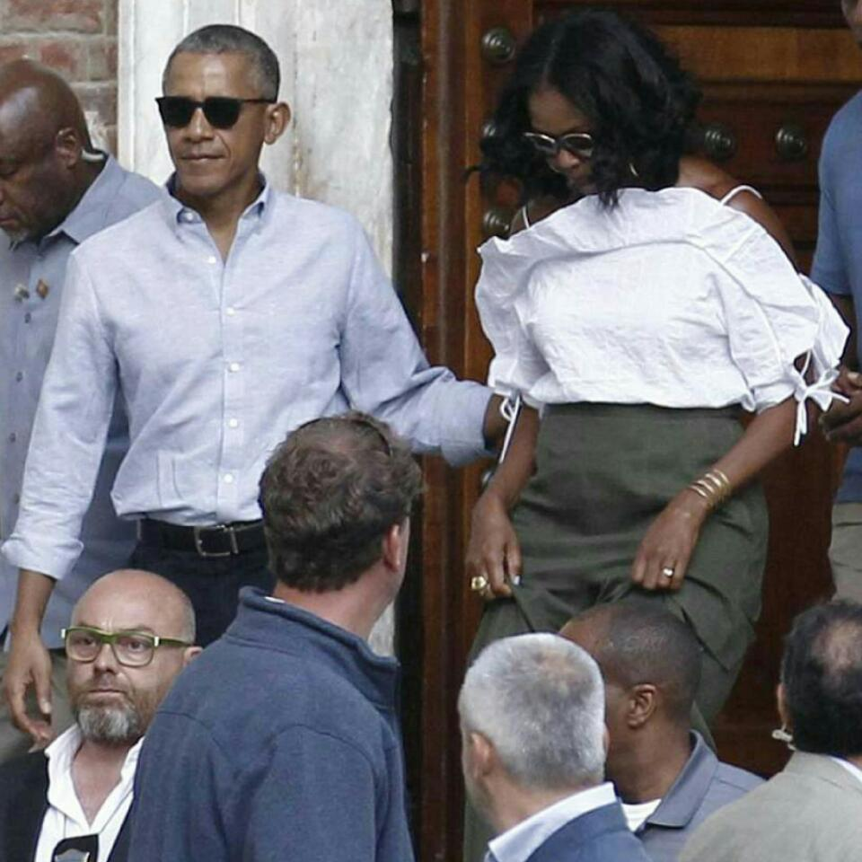 Michelle Obama Looks Stylish In Flirty Strappy Top While On Vacation With Barack Obama In Tuscany