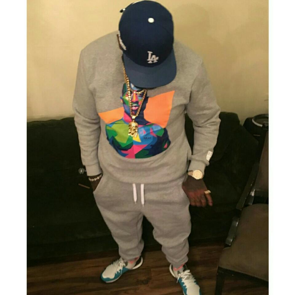 Rick Ross Rocks Tupac Sweater