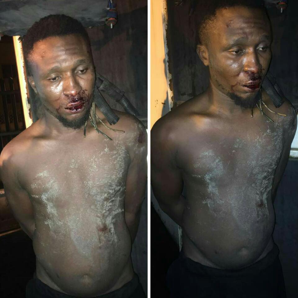 Man Caught Vandalising First Bank Generator Set At Ilupeju