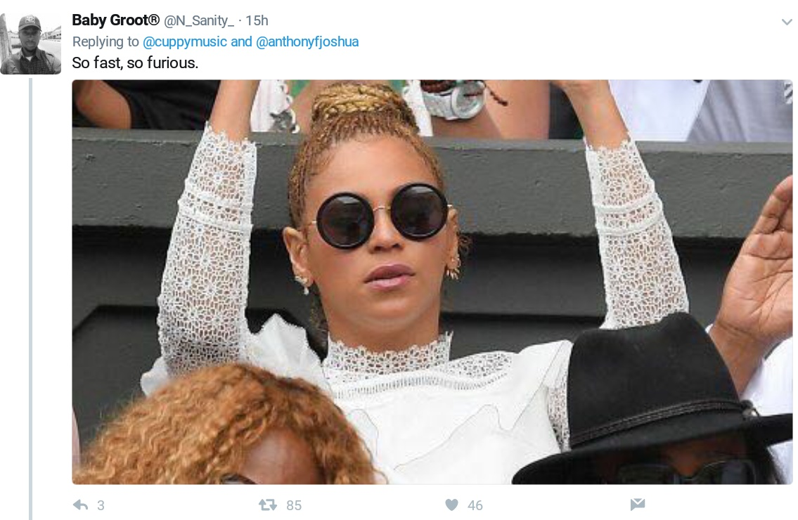 DJ Cuppy Posted A Photo With Anthony Joshua But Twitter Hilariously Roasts Her 3