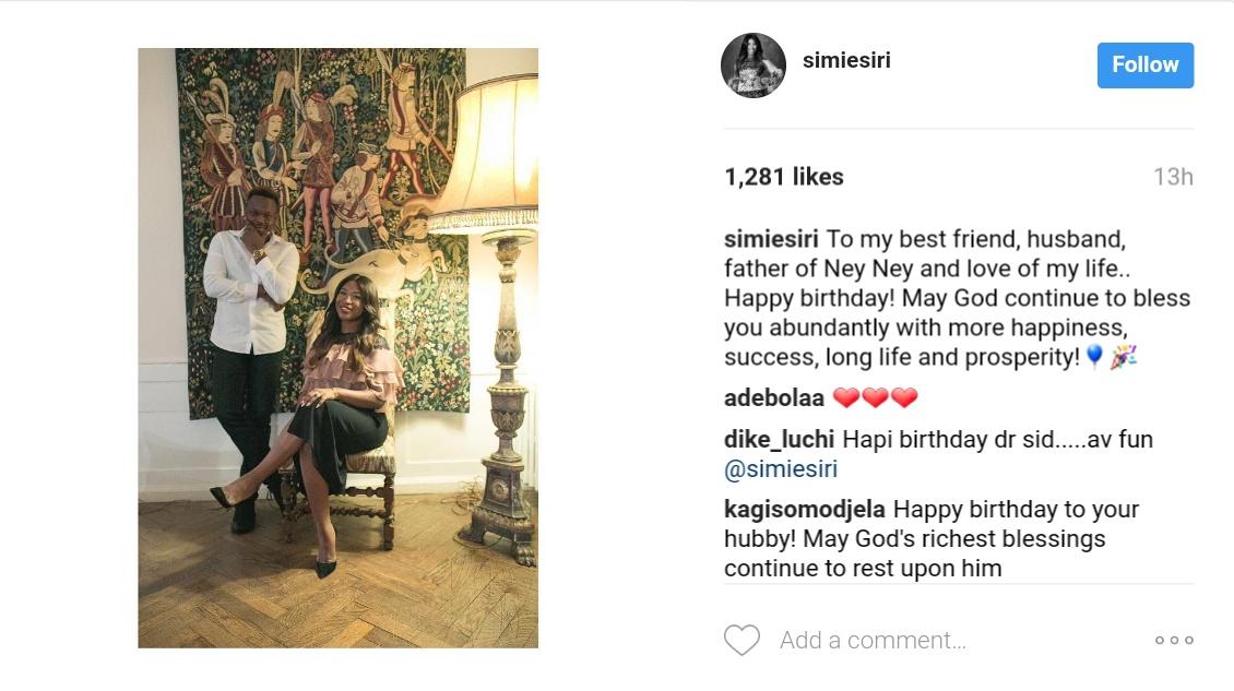 Simi Esiri Celebrates Her Singer Husband Dr Sid On His Birthday 3