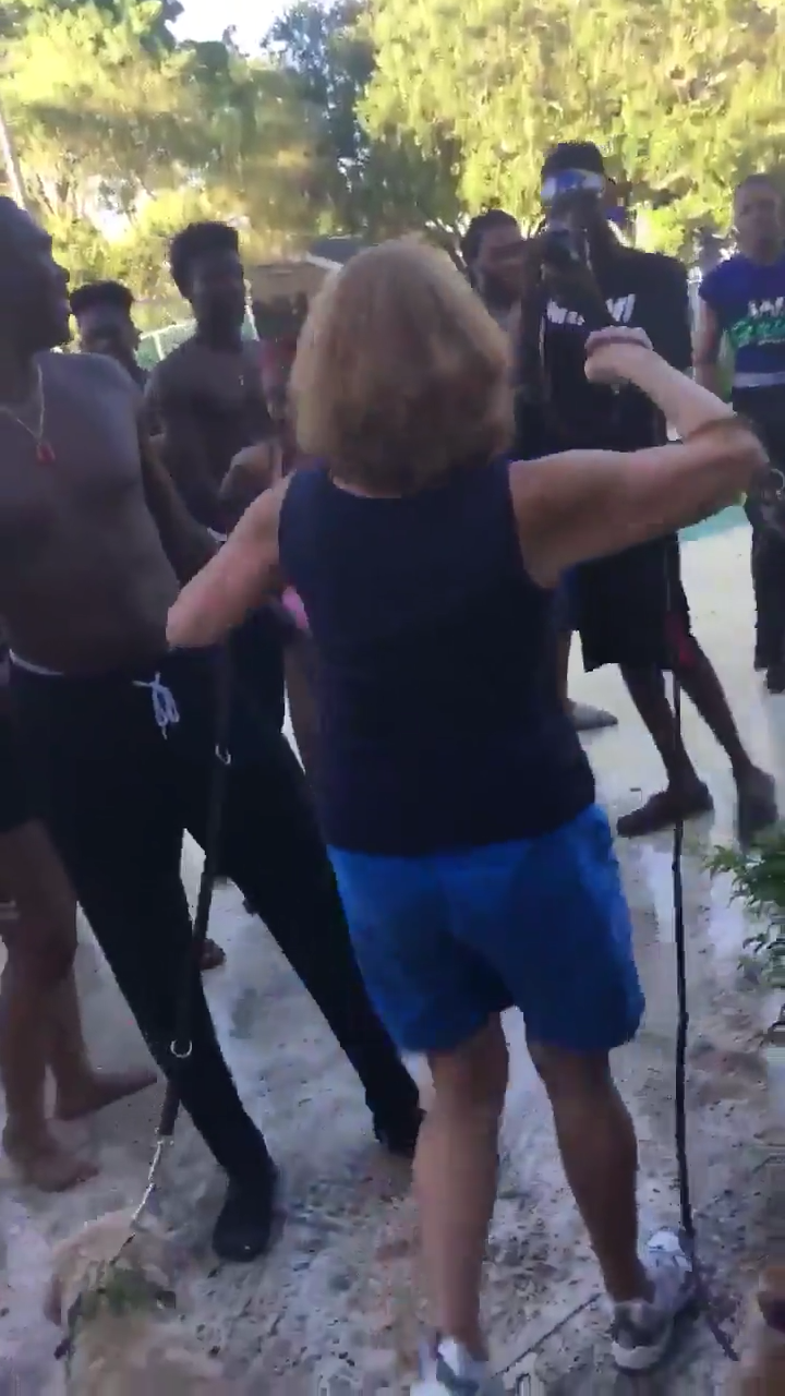 South Florida Elderly Woman Was Slammed To The Ground And Dragged Into Pool By Neighbour While Trying To Break Up High School Pool Party 1
