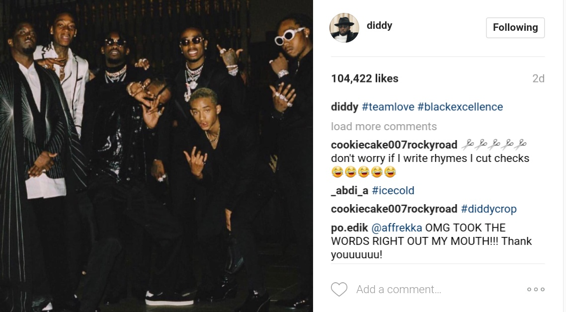 Diddy Threw The Most Epic Shade At Kendall And Kylie Jenner On Instagram 1