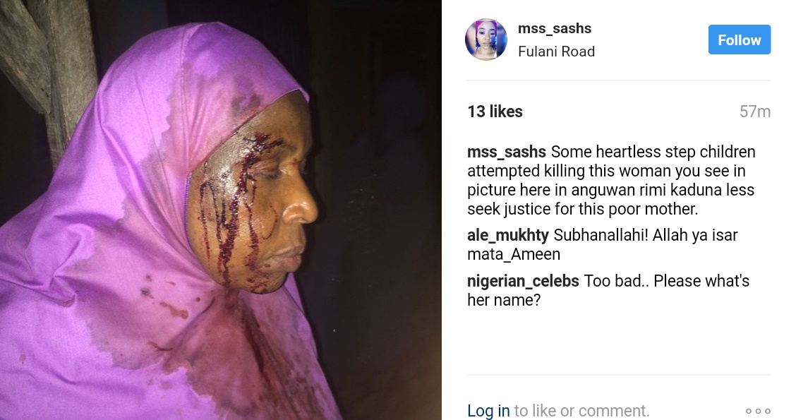 mss_sashs Shares Photos Of Woman Brutalized By Stepchildren While Trying To Kill Her In Anguwan Rimi kaduna