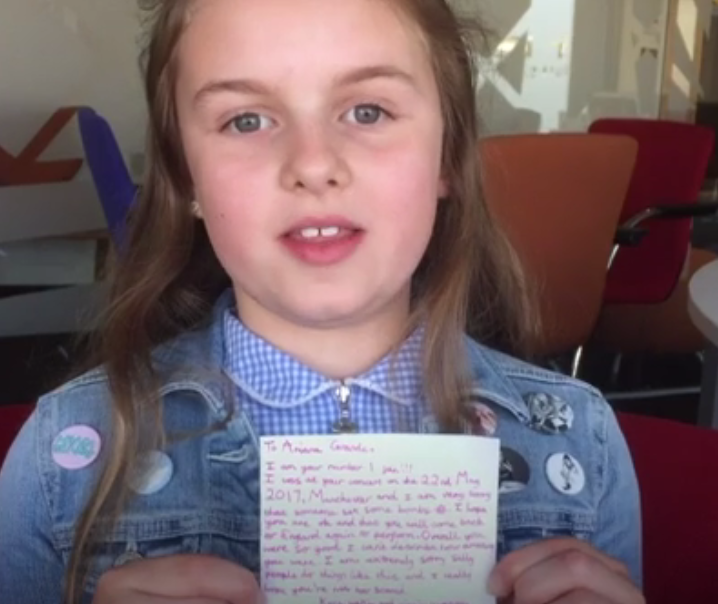 Heartfelt Letter 10-Year-Old Ariana Grande Fan Penned To The Singer Following The Tragic Terror Attack At Her Manchester Arena Concert 1