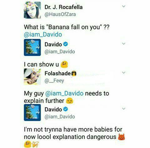 Davido Banana Fall On You