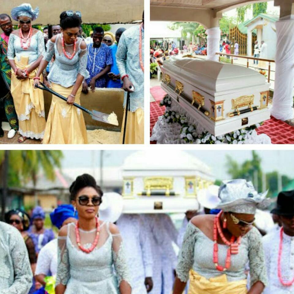 Omoni Oboli Father Burial