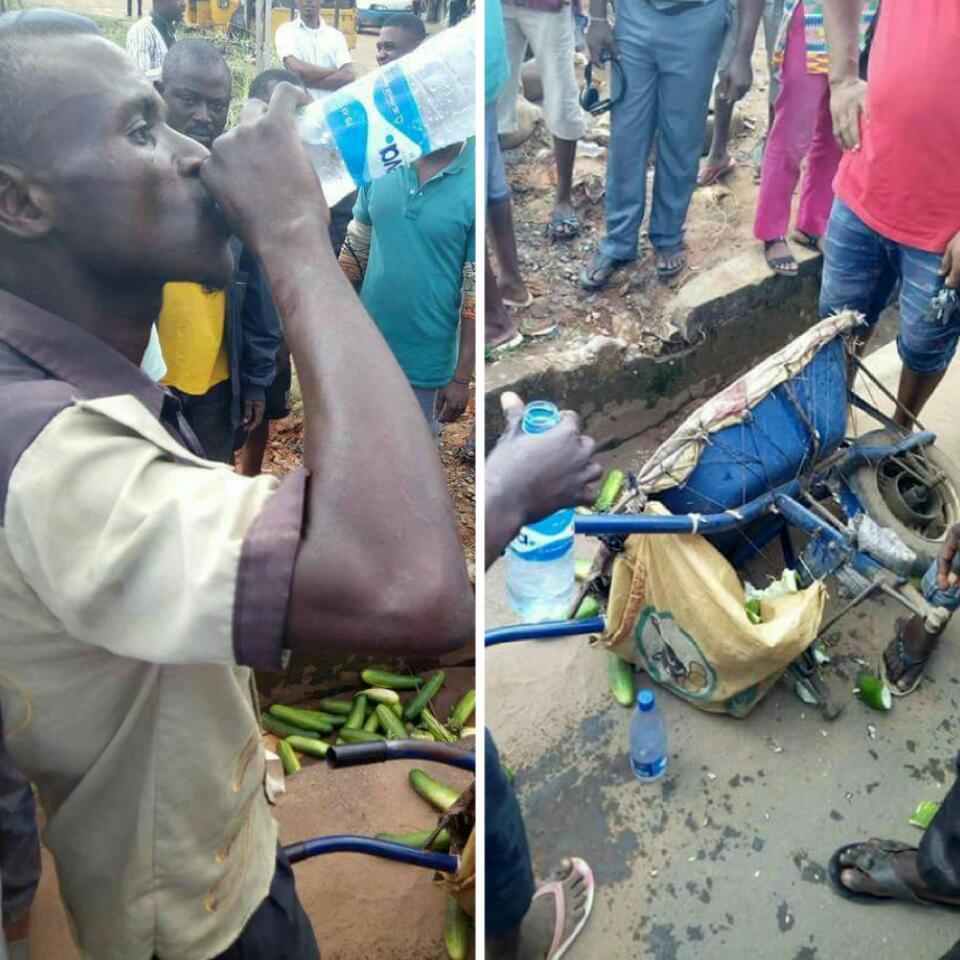 Man Caught Spraying His Urine On Cucumbers He Sells In Owerri