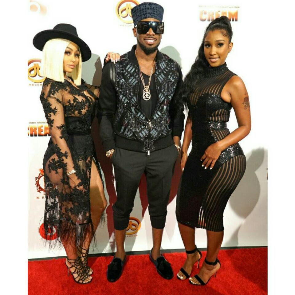 D'banj Pictured With Blac Chyna And Bernice Burgos