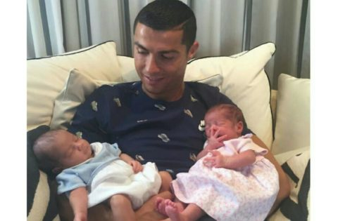 Cristiano Ronaldo Shared First Photo Of Newborn Twins
