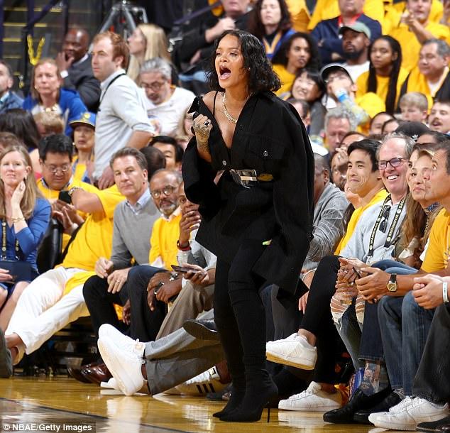 Rihanna At 2017 NBA Finals (4)