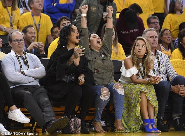 Rihanna At 2017 NBA Finals (2)