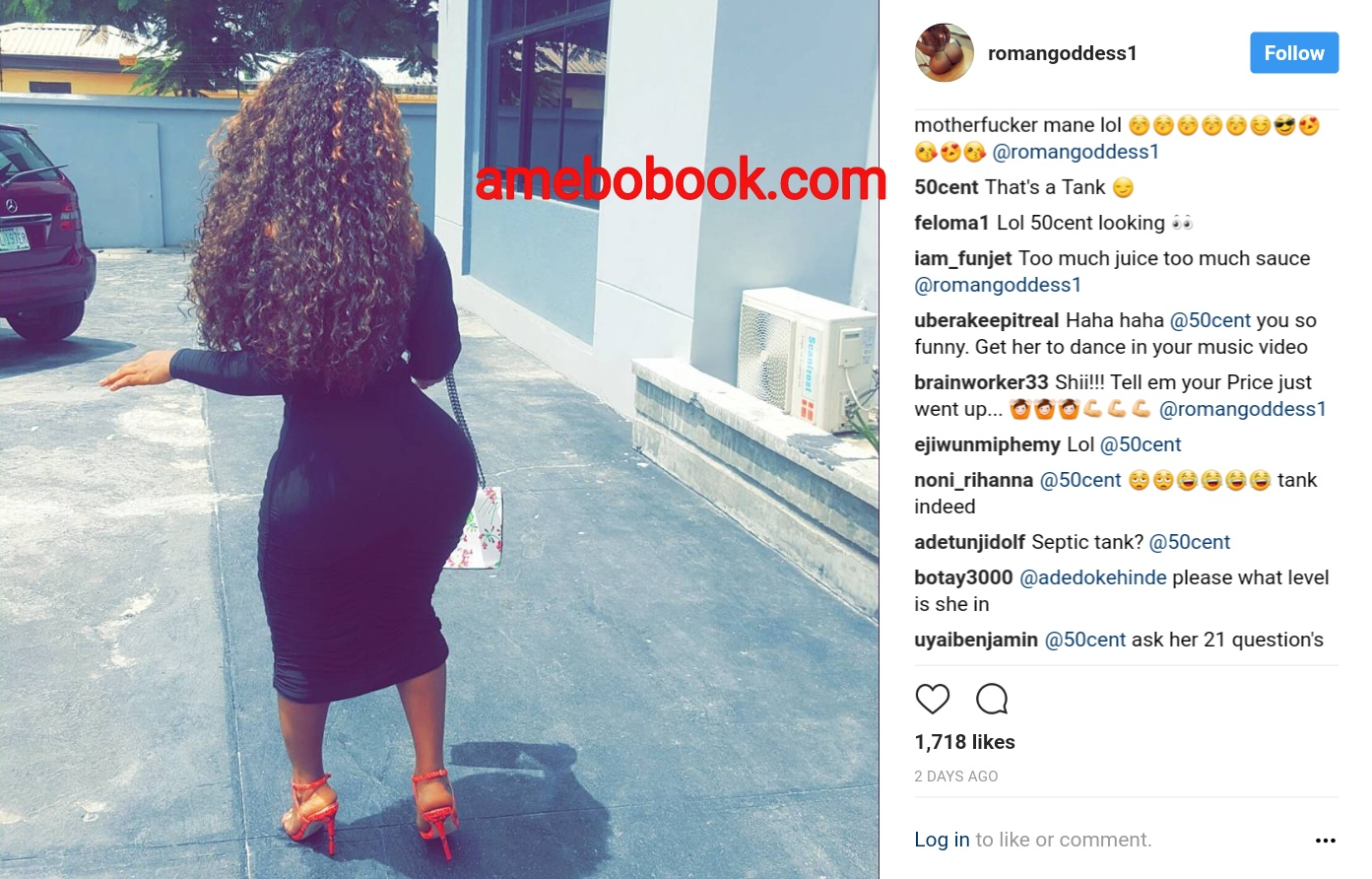 50 Cent Comments On Endowed Nigerian Girl Roman Goddess Instagram Page (1)