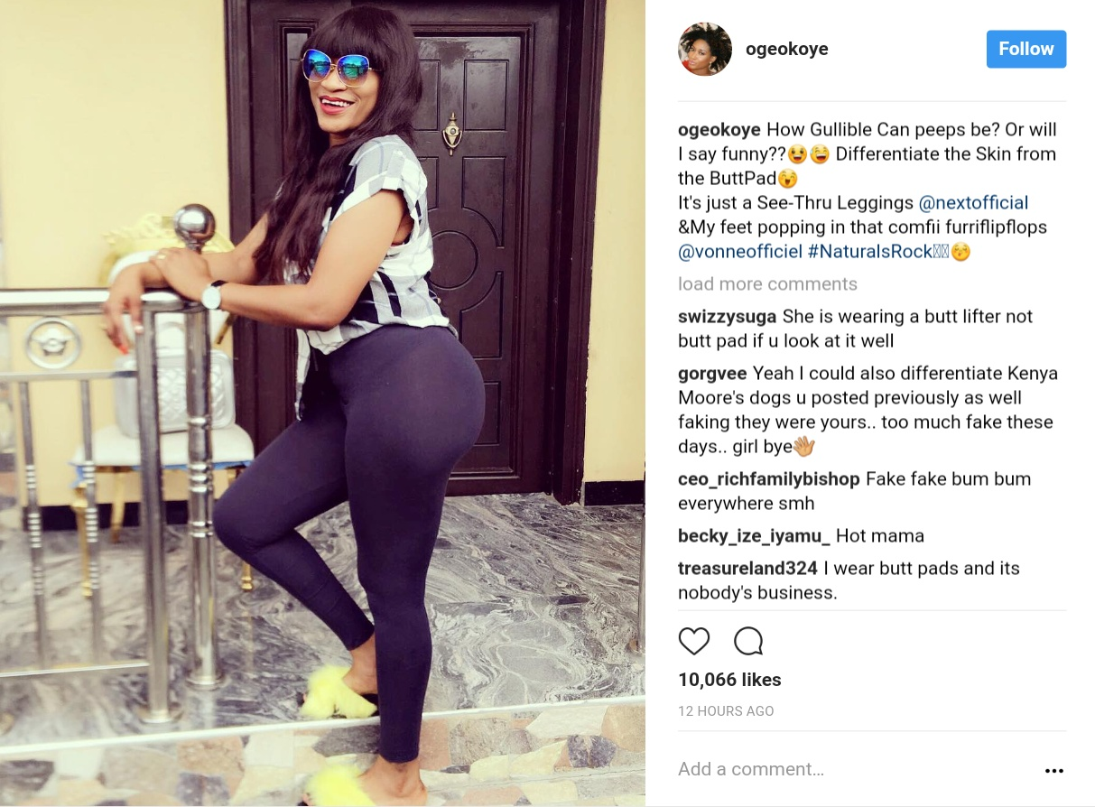 Oge Okoye Has Been Accused Of Wearing Butt Pad (1)