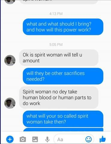 Nigerian Pastor Has Shared Screenshot Of Conversation He Had With Agent Of Spirit Woman (4)