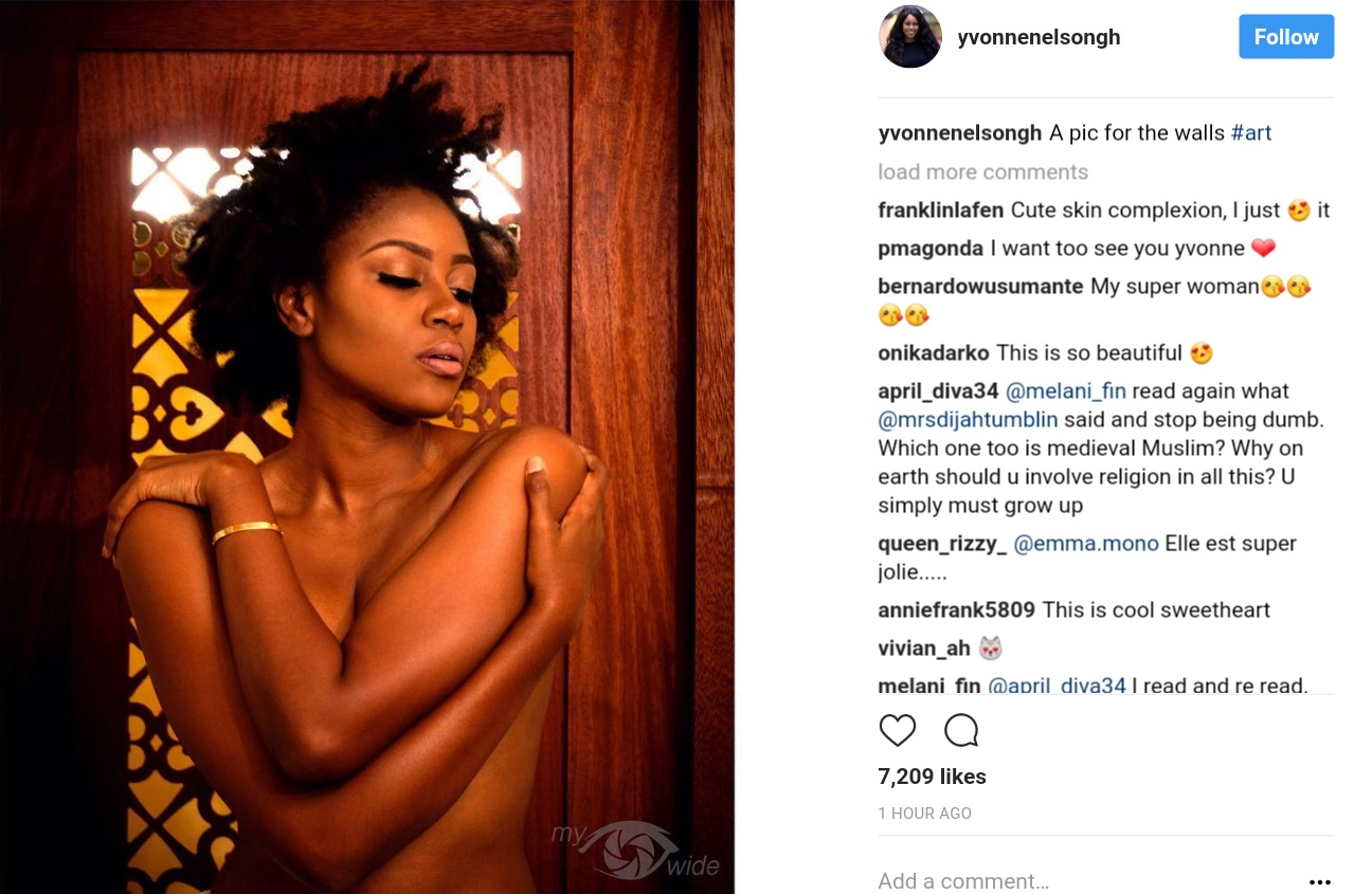 Yvonne Nelson Goes Topless (1)