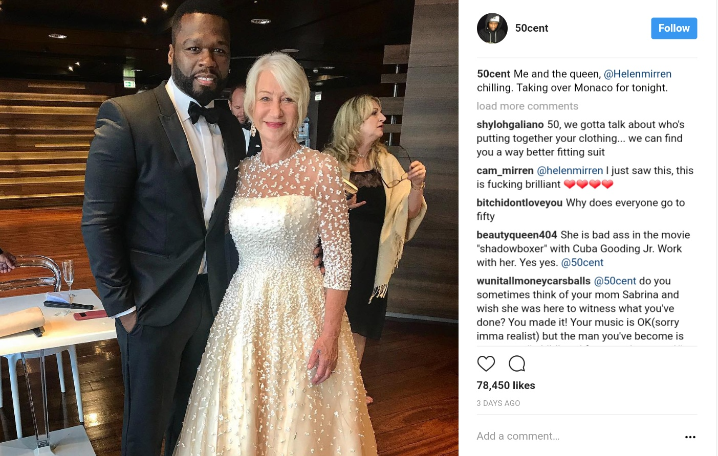 50 Cent Has Admitted That Helen Mirren Turns Him On (1)