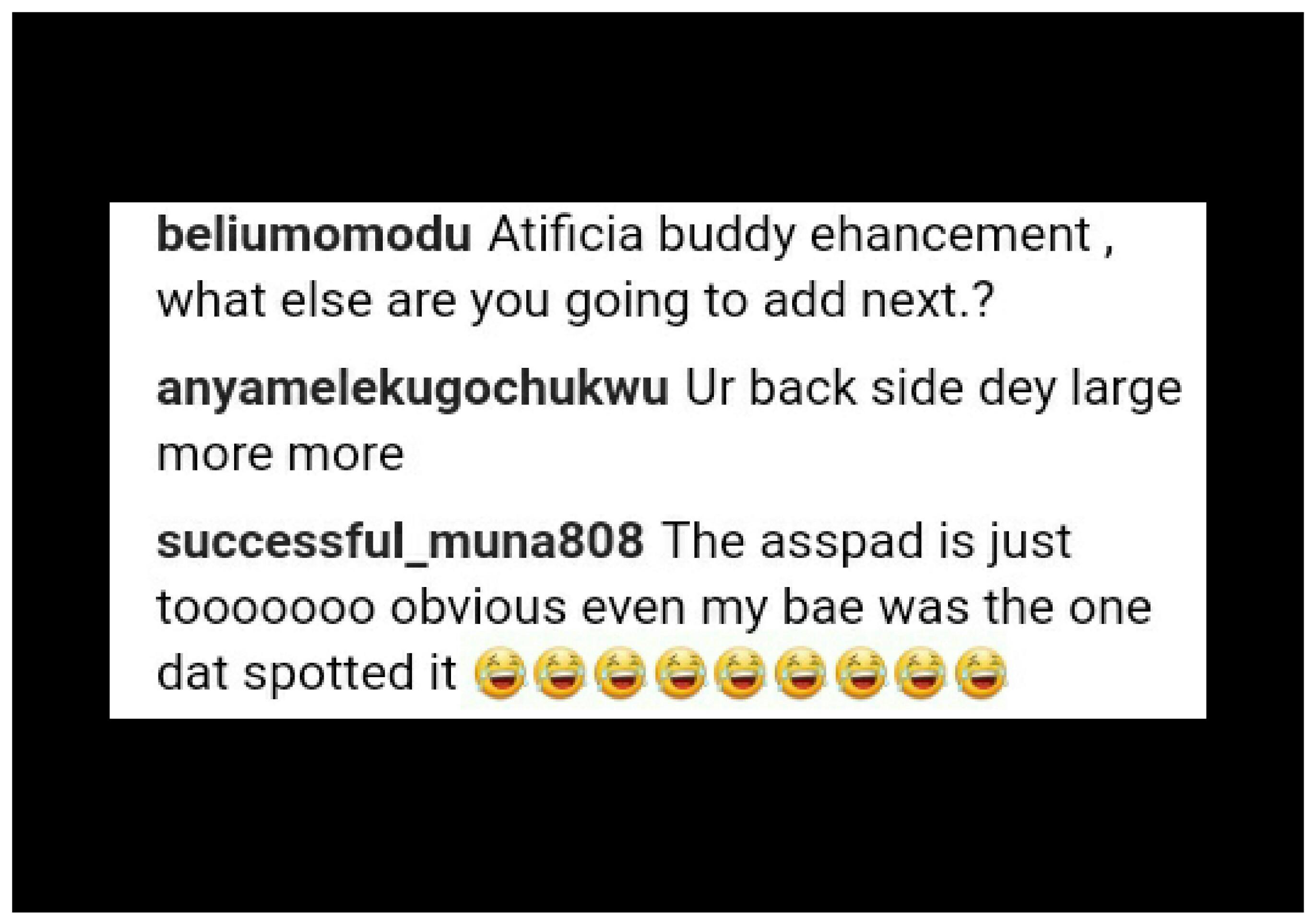 Oge Okoye Has Been Accused Of Wearing Butt Pad (4)