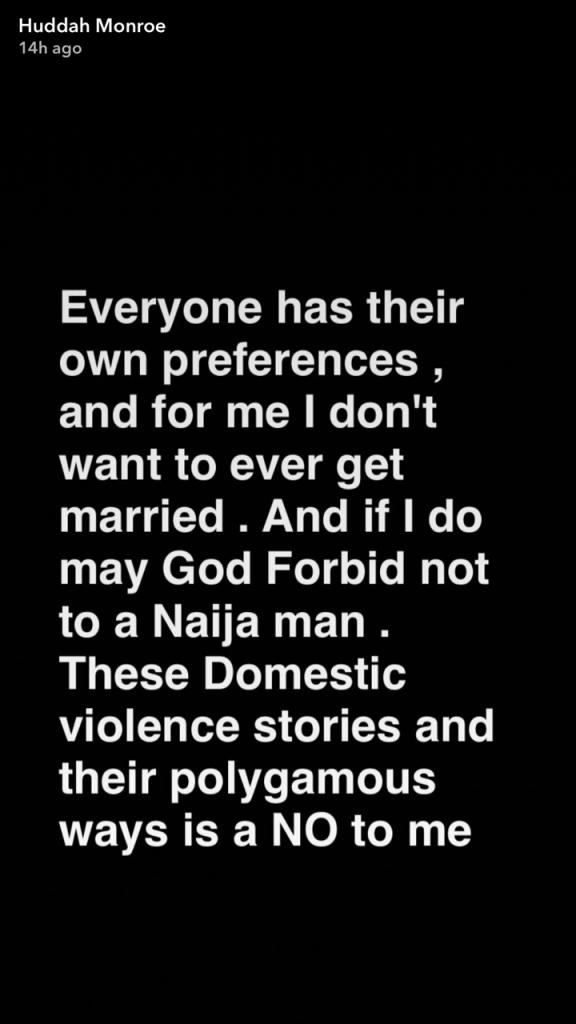 Huddah Monroe Has Continued To Rant Against Nigerian Men (3)